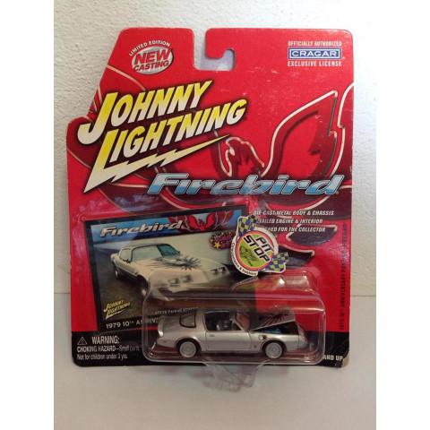 Johnny Lightning - 1979 Anniversary  Pontiac Firebird Cinza - Firebird