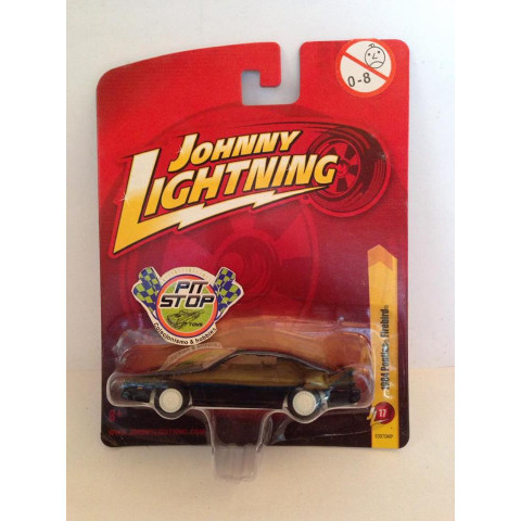 Johnny Lightning -  1984 Pontiac Firebird Preto - JL Forever - White Lightning