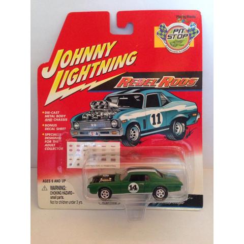 Johnny Lightning - 67 Mercury Cougar Verde - Rebel Rods