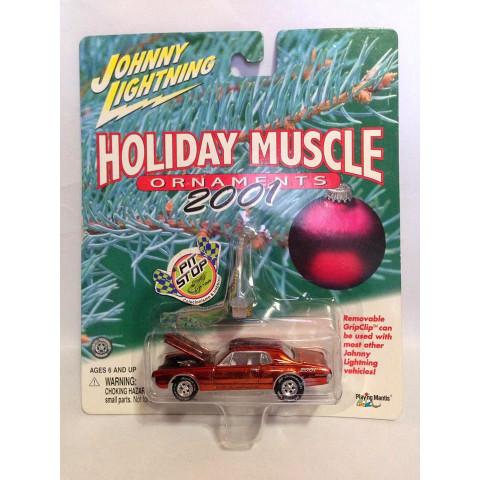 Johnny Lightning - 1967 Mercury Cougar Laranja - Holiday Muscle 2001