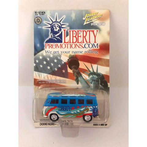 Johnny Lightning - 66 Vw 23 Window Samba Bus Azul - Liberty Promotions Limitado em 5000 pçs
