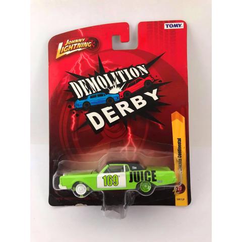 Johnny Lightning - 1969 Lincoln Continental Verde - Demolition Derby