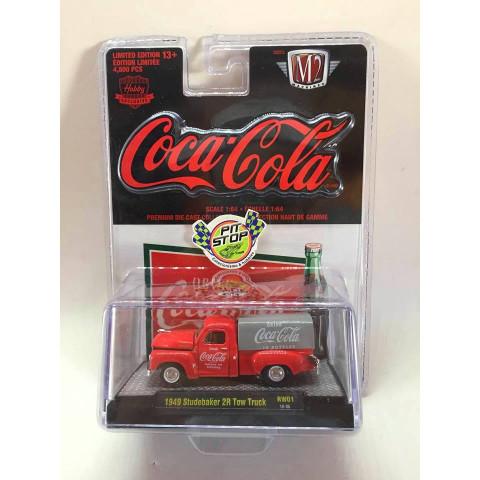 M2 Machines - 1940 Studebaker 2R Tow Truck Vermelho - Coca-Cola