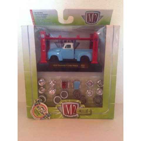 M2 Machines - 1954 Chevrolet 3100 Truck Azul - Model-Kit