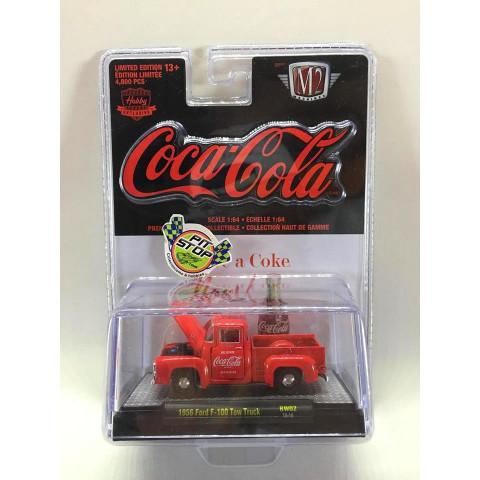 M2 Machines - 1956 Ford F-100 Tow Truck Vermelho - Coca-Cola