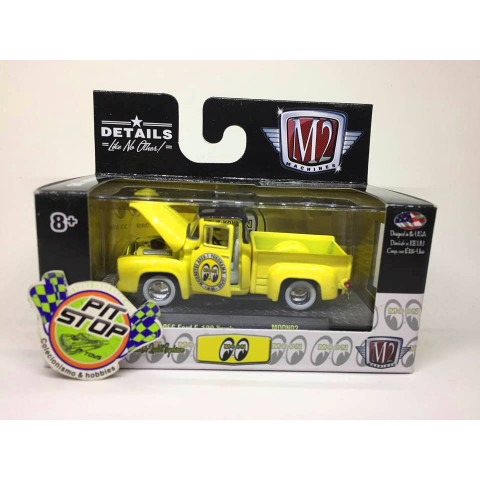 M2 Machines - 1956 Ford F-100 Truck Amarelo - Mooneyes
