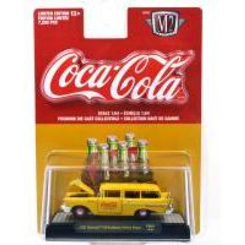 M2 Machines - 1957 Chevrolet 150 Hadyman Station Wagon Amarelo - Coca-Cola