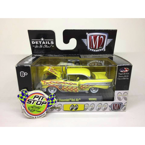 M2 Machines - 1957 Chevrolet Bel Air Amarelo - Mooneyes