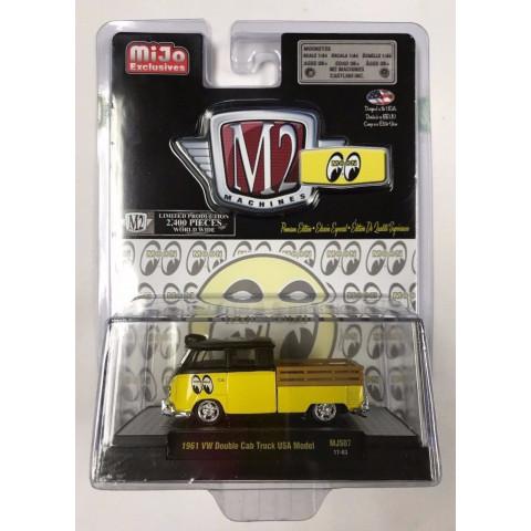M2 Machines - 1961 VW Double Cab Truck USA Model - MiJo Exclusivo - Limitado 2400 pcs