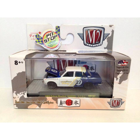 M2 Machines - 1969 Datsun Bluebird 1600SSS Branco - Auto Japan - Walmart Exclusivo