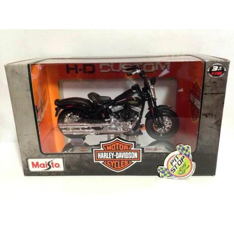 Maisto - 2008 FLSTSB Cross Bones Preto - Harley Davidson