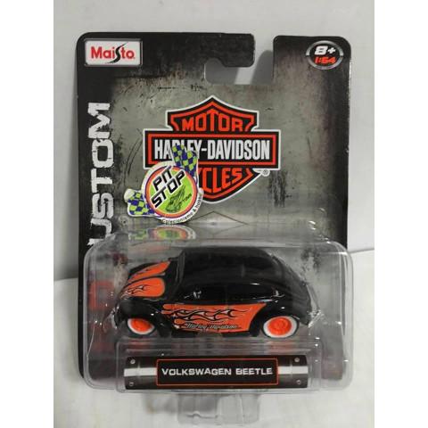 Maisto - H-D Custom - Volkswagen Beetle Preto - Harley-Davidson