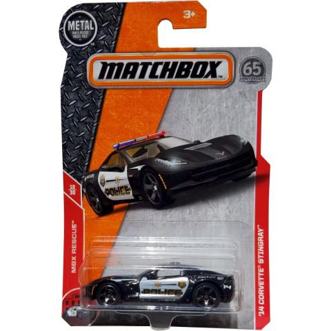 Matchbox - 14 Corvette Stingray Preto - Matchbox 2018