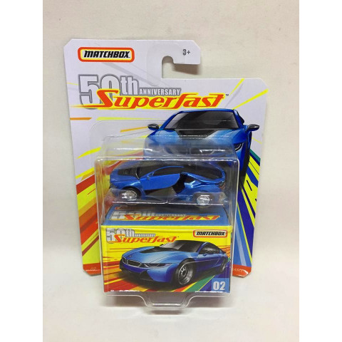 Matchbox - 16 BMW I8 Azul - Superfast 50th Anniversary