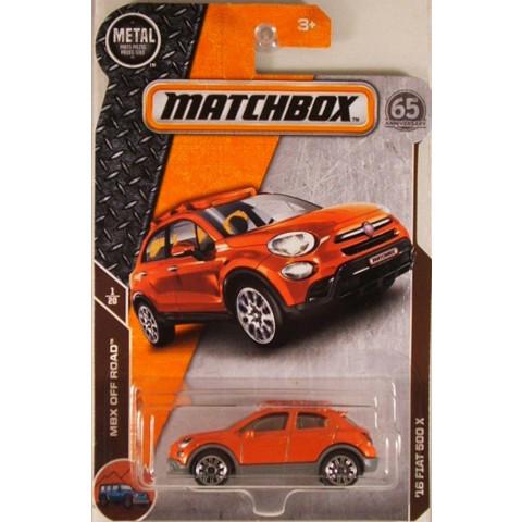 Matchbox - 16 Fiat 500 X Laranja - Matchbox 2018