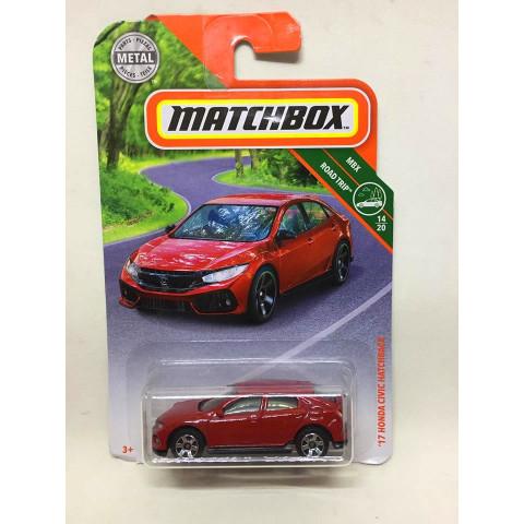 Matchbox - 17 Honda Civic Hatchback Vermelho - MBX Road Trip - 2019