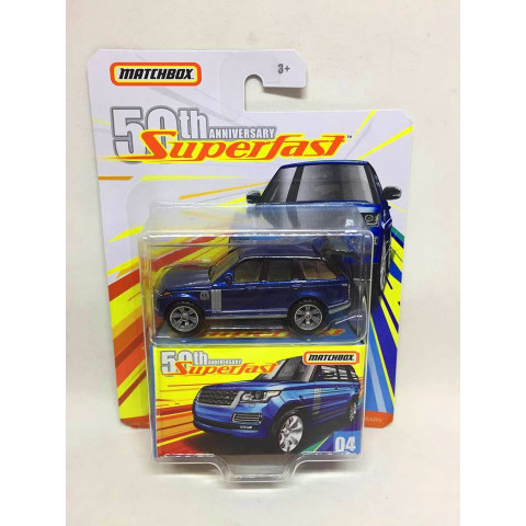 Matchbox - 18 Range Rover LWB Azul - Superfast 50th Anniversary