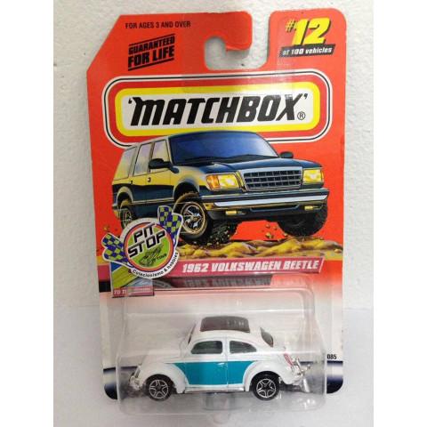 Matchbox - 1962 Volkswagen Beetle Branco - Básico 2000