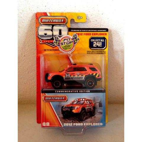 Matchbox - 2012 Ford Explorer Laranja - 60th Anniversary