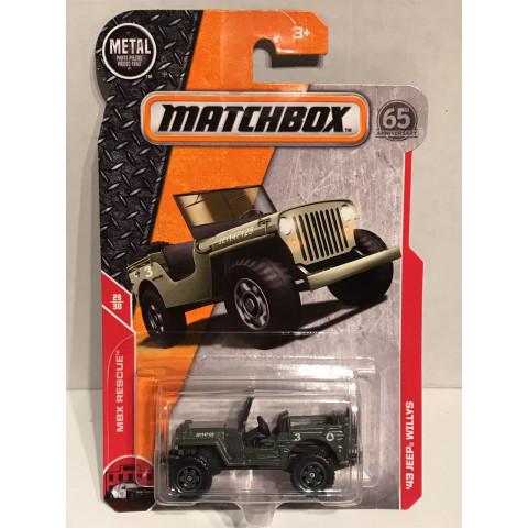 Matchbox - 43 Jeep Willys Verde - Matchbox 2018