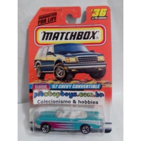Matchbox - 57 Chevy Convertible Azul - Básico 1998