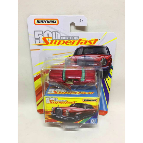 Matchbox - 62 Mercedes-Benz 220SE Vermelho - Superfast 50th Anniversary