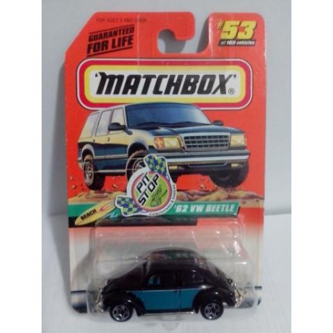 Matchbox - 62 Vw Beetle Preto - Básico 1999