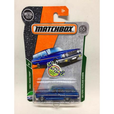 Matchbox - 64 Ford Fairlane Wagon Azul - Básico 2018