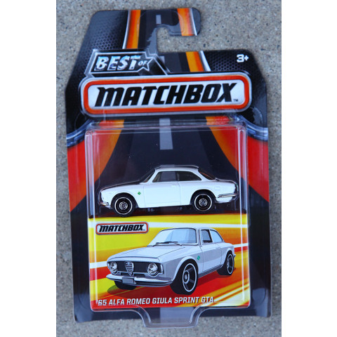 Matchbox - 65 Alfa Romeo Giula Sprint GTA Branco - Best of Matchbox