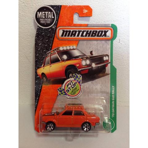 Matchbox - 70 Datsun 510 Rally Laranja - Básico 2017