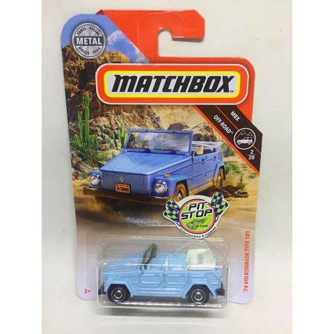 Matchbox - 74 Volkswagen Type 181 Azul - MBX Off-Road - Básico 2019