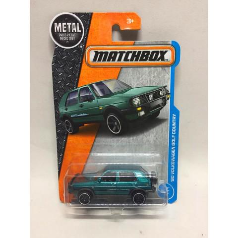 Matchbox - 90 Volkswagen Golf Country Verde Metalico - Básico 2017