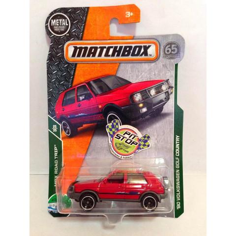 Matchbox - 90 Volkswagen Golf Country Vermelho - Básico 2018