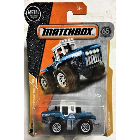 Matchbox - Acre Maker Azul - Matchbox 2018