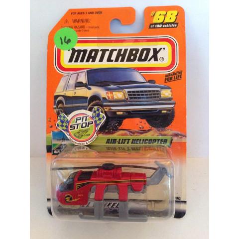 Matchbox - Air-Lift Helicopter Vermelho - Básico 2000