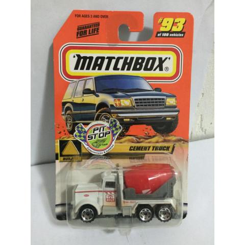 Matchbox - Cement Truck Branco - Básico 2000