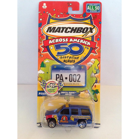 Matchbox - Chevy Tahoe Police Azul - Across America - 50 Birthday Series