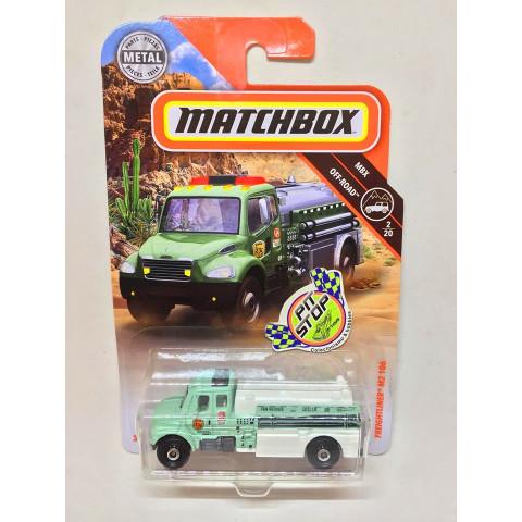 Matchbox - Freightliner M2 106 Verde - MBX Off-Road - Básico 2018