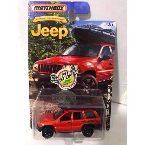 Matchbox - Jeep Grand Cherokee Laranja - Jeep Anniversary Edition 2016