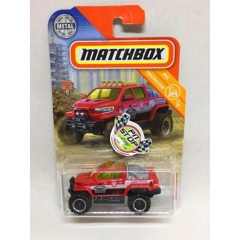 Matchbox - Snow Thrasher Vermelho - MBX Construction - Básico 2018