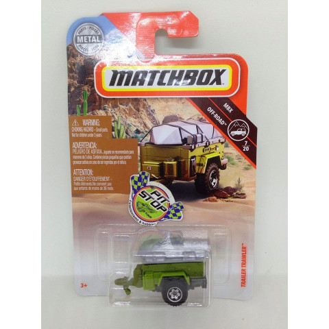 Matchbox - Trailer Trawler Verde - MBX Off-Road - Básico 2019