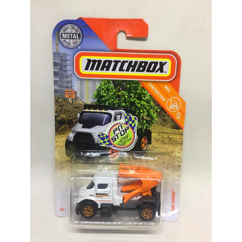 Matchbox - Tree Lugger Branco - MBX Construction - Básico 2019