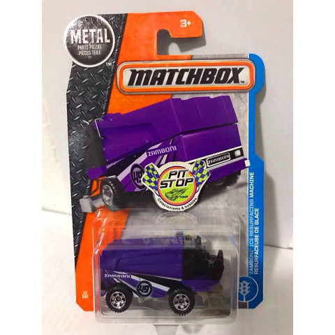 Matchbox - Zamboni Ice Resurfacing Machine Roxo - Básico 2017