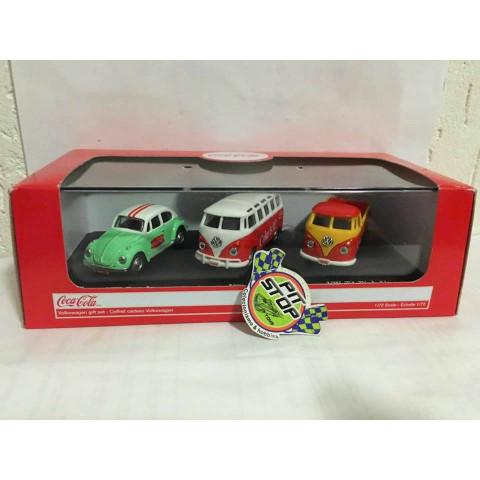 Motor City - Volkswagen Gift Set (03 Minis) - Coca-Cola - Escala 1:72