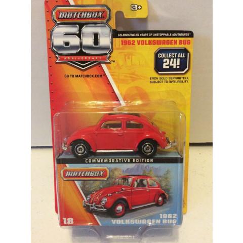 Matchbox - 1962 Volkswagen Bug Vermelho - 60th Anniversary