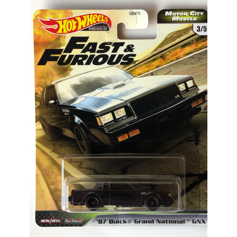 Hot Wheels - 87 Buick Grand National GNX - Motor City Muscle - Fast and Furious - Velozes e Furiosos