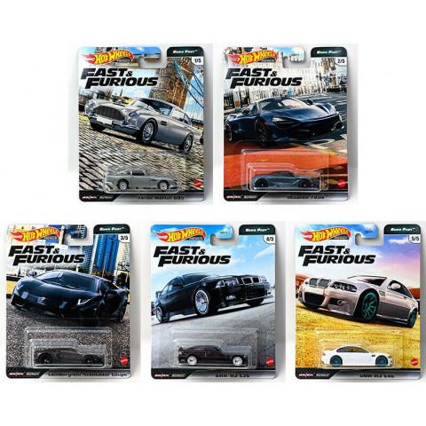 Hot Wheels - Set Fast e Furious - Completo 5 Miniaturas - Euro Fast