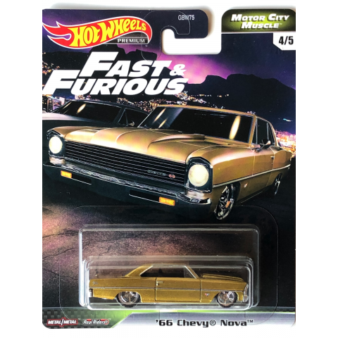 Hot Wheels - 66 Chevy Nova - Motor City Muscle - Fast and Furious - Velozes e Furiosos