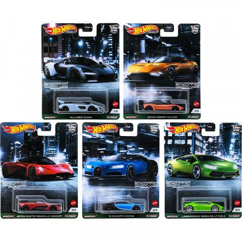 Hot Wheels - Set Completo  Exotic Envy - Com 5 Miniaturas - Car Culture