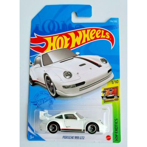 Hot Wheels - Porsche 993 GT2 Branco - Mainline 2021